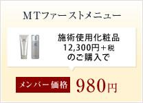 MTファーストメニュー 980円